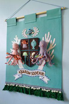 The main art piece for my solo show, The Royal Aquarium Souvenir Shop.