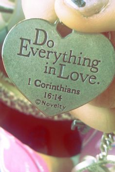 1 CORINTHIANS 16:14 Scripture Painting Idea
