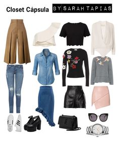 Closet Cápsula. by sarahzomer on Polyvore featuring polyvore, fashion, style, Michelle Mason, RED Valentino, LE3NO, Ted Baker, Isabel Marant, Fendi, Moschino, adidas, Yves Saint Laurent, Gucci, STELLA McCARTNEY and clothing