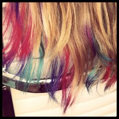 This may be less in your face. Cool Hair Color, Hair Colors, Rock Star Hair, Hair Today, Hair Dos, Hair Hacks, Cute Hairstyles, New Hair, Hair And Nails