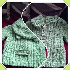 Babies aran jacket