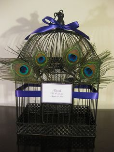 for my peacock wedding, cards