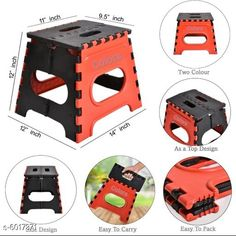 Electronic Lightings Folding Stool for Adults and Kids Bedroom & Kitchen Stool (Red) Stool  (Red, Black) Material: Plastic  Size : (L X W X H) 12 in X 11 X 9.5 Description : It Has 1 Piece Of Folding Stool Sizes Available: Free Size *Proof of Safe Delivery! Click to know on Safety Standards of Delivery Partners- https://ltl.sh/y_nZrAV3  Catalog Rating: ★4.3 (1315)  Catalog Name: Divine Home Utilities CatalogID_912478 C128-SC1314 Code: 392-6017371-