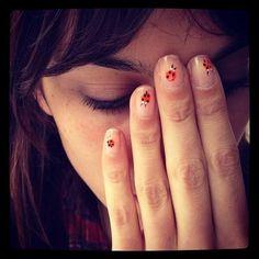 alexa chung ladybug nails