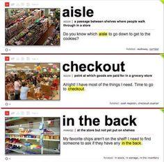 In a supermarket.