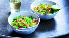 Boulgour et salade marocaine au citron vert : http://blog.fitnext.com/boulgour-salade-marocaine-au-citron-vert?utm_campaign=buzz-reseaux-sociaux-fitnext&utm_source=pinterest.com&utm_medium=social&utm_content=salade-marocaine
