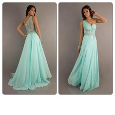this is absolutely gorgeous! I love the color and the single shoulder!