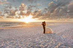 Beach wedding pic. Love it!