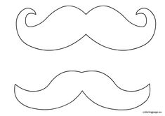Mustache Moustache Template Printable Sketch Coloring Page Coloring Pages To Print, Free Coloring, Coloring Book, Mustache Template, Mustache Drawing, Moustache Party, Movember Mustache, Felt Crafts, Ties
