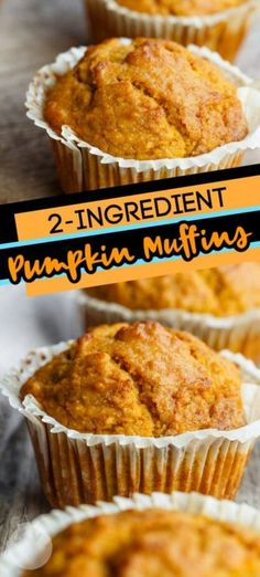 These 2-Ingredient Crazy Muffins are the perfect sweet treat that can be baked up in a few minutes. Trust me, they are so easy and so good, you'll never make muffins any other way again! Easy Delicious Recipes, Easy Dinner Recipes, Tasty, Easy Desserts, Dessert Recipes, Muffin Tin Recipes, Good Food, Yummy Food, Crazy Cakes