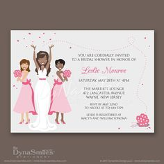 Bridal Party Bridal Shower Invitations African By Thedynasmiles · African  American WeddingsBridal ...