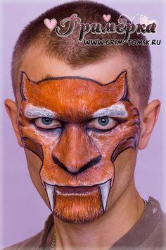 Аквагрим, грим, мультфильм Ледниковый период, Диего Face painting, make-up, animated film Ice Age, Diego