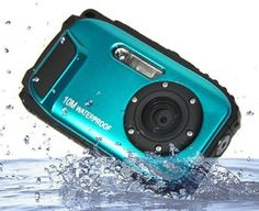 Waterproof Camera Fitiger Underwater 27 inch LCD Digital Camera Zoom Cameras Waterproof Camera Blue -- Continue with the details at the image link. Photography Camera, Underwater Photography, Digital Photography, Dslr Camera Reviews, Video Camera, Diving Camera, Underwater Camera Housing, Still Camera, Best Digital Camera