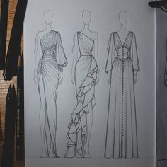 Fashion Illustration Tutorial, Fashion Drawing Tutorial, Fashion Figure Drawing, Fashion Drawing Dresses, Illustration Mode, Fashion Illustration Dresses, Fashion Illustrations, Drawing Fashion, Design Illustrations