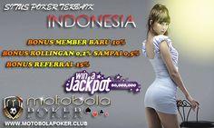 Judi Poker Online - Situs Motobolapoker adalah situs judi poker online Indonesia terbesar dengan minimal deposit 10 ribu dan dengan bonus member baru 10%.