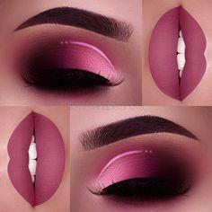 Eye Makeup Art, Pink Makeup, Cute Makeup, Gorgeous Makeup, Eyeshadow Makeup, Makeup Brushes, Clown Makeup, Easy Makeup, Makeup Box