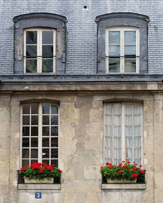 """Paris Photography, """"Window Boxes"""", French Art Prints, Paris Decor, Paris Window, Red Paris Prints"""