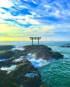 Oarai Isosaki-jinja Shrine, Kamiiso-no-Torii, Oarai, Ibaraki, Japan, 大洗磯前神社, 神磯の鳥居, 大洗, 茨城
