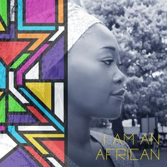 Inspired by Ndebele patterns. African lady