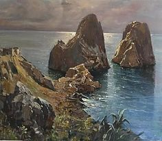 Capri Italy Painting - Capri by Vincenzo Aprile