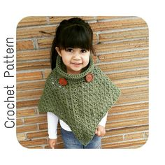 Child to Adult Cowl Neck #Poncho #Pattern - Get started on your next #MommyandMe project https://www.etsy.com/listing/253371315