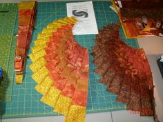 """The Magic of Quilting: Start of the """"Spicy Spiral Table Runner"""""""