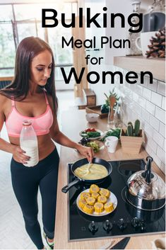 Bulking meal plan for women. Learn how to create your own bulking diet plan to b… Bulking meal plan for women. Learn how to create your own bulking diet plan to build muscle. Muscle Food, Food To Gain Muscle, Muscle Diet, Muscle Meals, Muscle Gain Workout, Burn Fat Build Muscle, Gaining Muscle, Weight Gain Meals, Weight Gain Meal Plan