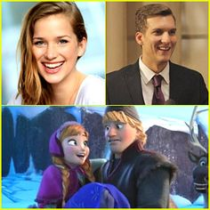Scott Michael Foster  Elizabeth Lail Are Kristoff  Anna on 'Once Upon A Time'!