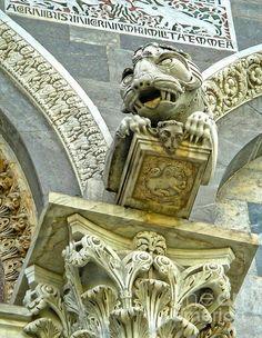 Pisa Italy Cathedral Gargoyle, Pisa, province of Pisa, Tuscany region Italy