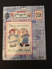 Raggedy Ann and Andy Counted Cross Stitch Kit NIP Gloria & Pat #077-0106 11x14