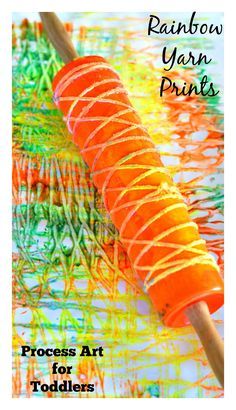 Printmaking  Rainbow Yarn Art 4th installment in our ART SERIES hosted by multiple blogs.