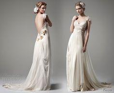 Stunning bohemian style wedding gown