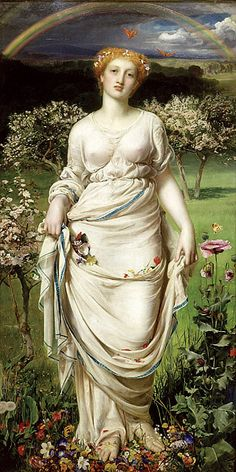 Gentle Spring,  Anthony Frederick Augustus Sandys 1865, Oil on canvas Collection: © Ashmolean Museum