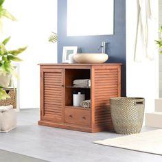 Waschbeckenmöbelstück aus Mahagoni – Möbel Modell Loggia solo