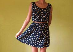 4b2f134e6e2 Custom made  sleeveless heart print cotton silk dress  black summer dress  beach  dress