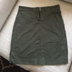 Army Green Skirt Army green skirt. (Pardon wrinkles, item formally in storage) Skirts