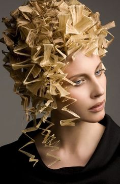 Interesting, crimping to the extreme. Can practically hear the hair screaming in pain. I like it!
