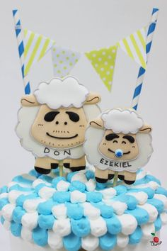 Characters from Nintama Rantarō For a Dad's birthday and a Son's Hundred Days celebration