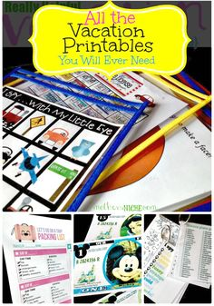 All the Travel Printables you will ever need: packing list, incentives, luggage tags, and activities for the kids