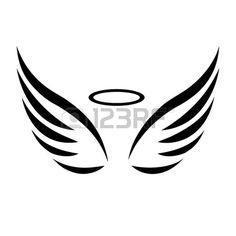 Dessin d 39 un joli petit ange qui prie pour les amoureux - Ailes d ange dessin ...