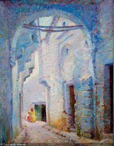 Leon Cauvy (French, 1874-1933) - Enfants dans les rues de la Casbah