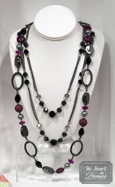 Premier Designs Jewelry Combo:  Mulberry + Downtown (doubled)