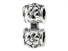 Reflections Sterling Silver Floral Connector Bead / Charm