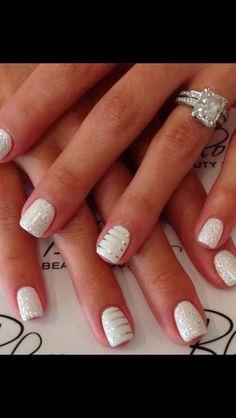 White & silver