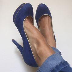 "Michael Kors Suede Pump Authentic Michael Kors Suede Platforms Heels.  Platform measures approximately 5"" Color: Blue. Size: 7 Brand New in the box. Michael Kors Shoes"