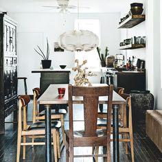 Küchen Küchenideen Küchengeräte Wohnideen Möbel Dekoration Decoration Living Idea Interiors home kitchen - Moderne Küche mit Holztisch geborgen