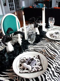 Zebra table detail