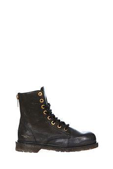 SERAFINI Boots rangers en cuir Marty
