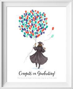 Personnalisé Fingerprint Guest Book Imprimer Licorne Design