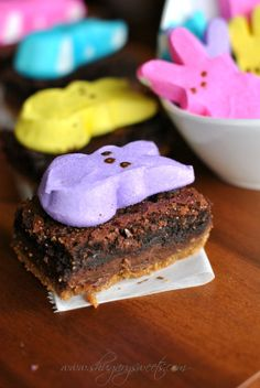 Layered S'mores Brownies with PEEPS